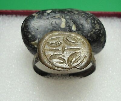 Ancient Roman Bronze Ring Kievan Rus Original Authentic Antique Rare R67
