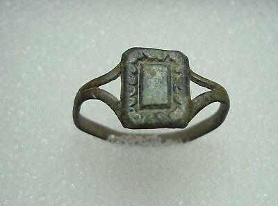 Ancient Roman Bronze Ring Kievan Rus Original Authentic Antique Rare R68