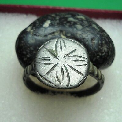 Ancient Roman Bronze Ring Original Authentic Antique Rare R144
