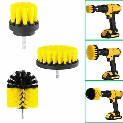 3Pcs Electric Drill Cleaning Tire Brush Ball Power Scrubber Tub Cleaner Combo