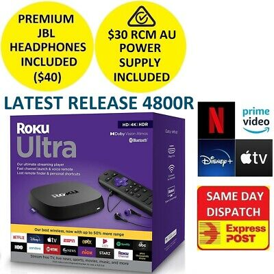 Roku Ultra 4661R 4K UHD HDR Streamer for NETFLIX PLEX AMAZON PRIME VIDEO DISNEY+