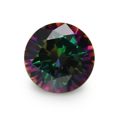 Size 1~10.0mm  Round Plating Mix Color Multicolor Cubic Zirconia CZ Stone Loose