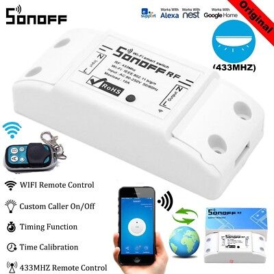 Sonoff S20 G1 Touch 4CH WiFi Smart Switch Timer APP Fernbedienung Home Steckdose