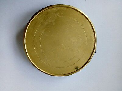"Brass back for antique clock ..... hinged ..... 4"" diameter"