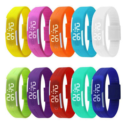 Touch Screen LED Digital Silicone Sport Wrist Watch Men Women Bracelet Watch NEW
