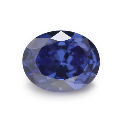 Size 2x3~13x18mm Tanzanite Color Oval Shape CZ Gems Loose Cubic Zirconia Stone