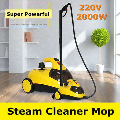 3In1 2000W Steam Mop High Pressure Floor Carpet Cleaner Washer Cleaning Machine