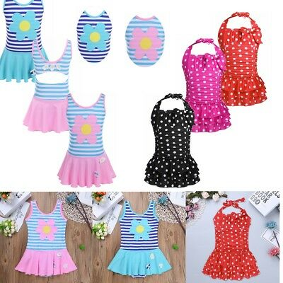 Kid Baby Girl Swimsuit Swimwear Rash Guard Bathing Surfing Suit Beach wear Dress