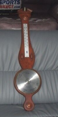 Stuning Vintage Very Large Quality Clevedon Banjo Barometer Thermometer