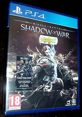 Middle Earth Shadow Of War Playstation 4 PS4 NEW SEALED FREE UK p&p UK Pal
