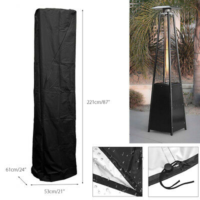 Pyramid Flame Patio Gas Heater Cover Case Polyester Waterproof Protector Outdoor