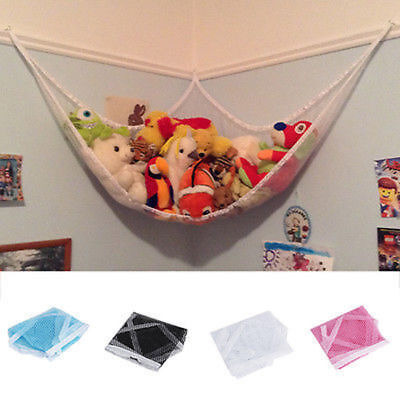 80cm Toy Hammock Mesh Baby Childs Bedroom Tidy Storage Nursery Net Bag BO