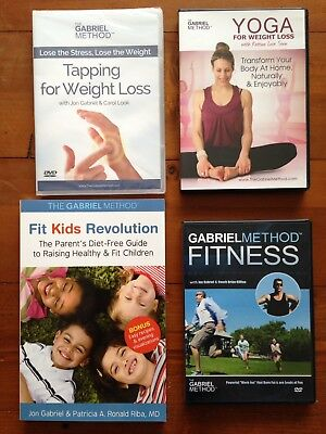 The Gabriel Method DVDs Fitness +Yoga for Weight Loss + Tapping + book Fit Kids