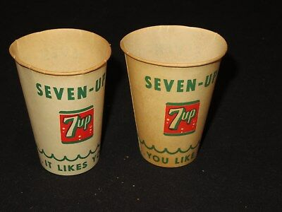 Seven Up 7-Up Paper Cup Advertising You Like It, It Likes You (J743)