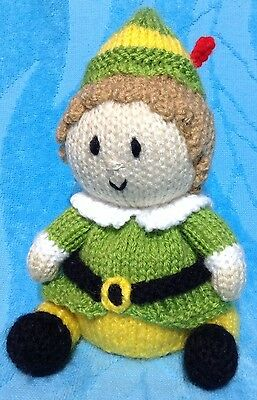 KNITTING PATTERN Christmas Buddy the Elf inspired choc orange cover / 17 cms toy