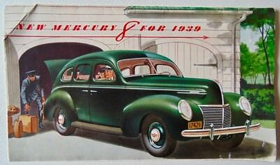 New Mercury 8 1939 Sales Brochure