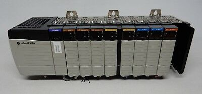 Allen Bradley Control Logix 10 Slot Rack w/ 1756-PA75/A, EtherNetIP, DC in & out