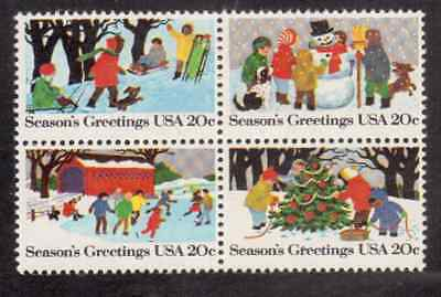 Scott # 2027/30...20 Cent...Season's Greetings...5 Blocks of 4...20 Stamps