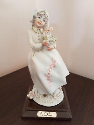 Art Deco Lady with flowers A Belcari Figurine