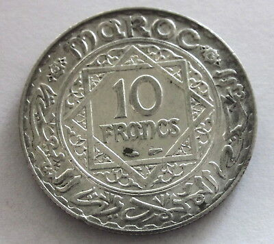 Morocco 10  Francs Y 38 (AH 1352) 1934, Circulated, Uncertified
