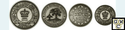 2018 Fine Silver 4Coins–Before Conf.colonial Currency Of Atlantic Province(18517