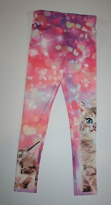NEW Justice Pink Princess Kitty Cat Leggings NWT Size 6-7 10 12 14-16 Year Girls