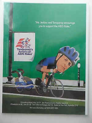 1996 Print Ad Tanqueray Gin Distilled English ~ Mr. Jenkins AIDS Bicycle Ride
