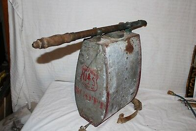 Rare Vintage 1930's US Forest Service Fire Fighting Metal Flame Thrower Sign