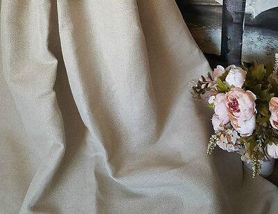 """5m  Upholstery Weight Heavy Natural Twill Wave 100%Linen 58"""" Curtain Fabric"""