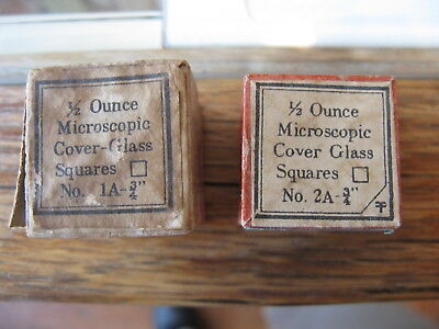 """Microscope Glass Slide Cover Slips: Sizes 1A-3/4"""" & 2A-3/4"""""""