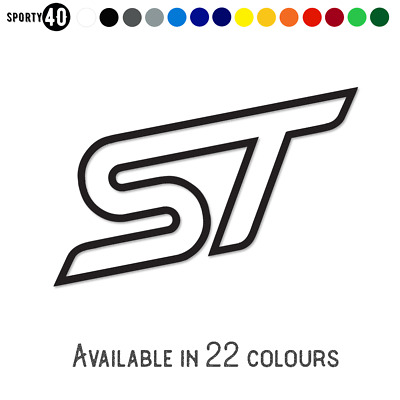 ST Ford - Vinyl Sticker / Decal - Car Racing Graphics - Ford Focus Fiesta ST