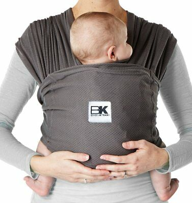 Baby K'tan BREEZE Baby Carrier, Charcoal Grey Cotton Mesh Small