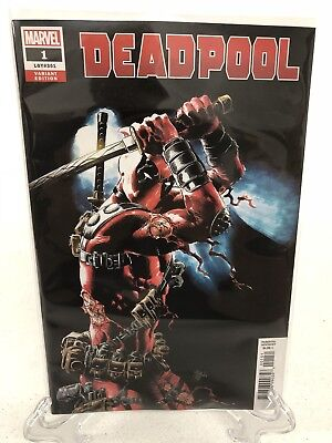 Deadpool #1 2018 Mike Deodato 1:25 Variant In Hand Ready To Ship NEW Unread