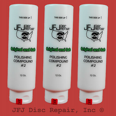 JFJ Advanced Polish Compound Solutions- Three #2 White 12oz Easy Pro Double
