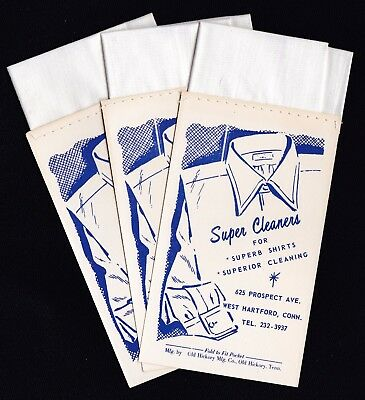 Vtg. Fold to Fit Pocket Hankie, Lot 3 items from Super Cleaners West Hartford CT