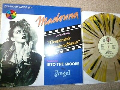 """MADONNA  Into The Groove / Angel : Limited Edition 12"""" Multi Coloured vinyl rare"""
