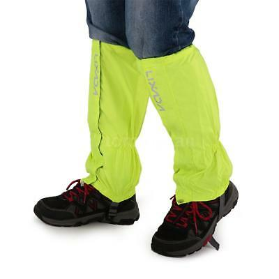 Lixada One Pair of Gaiters Outdoor Unisex Zippered Closure Wear and Water C0X9