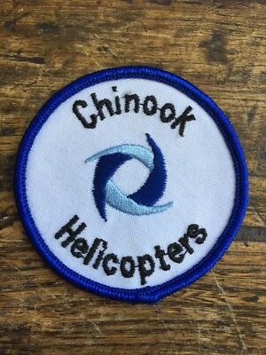 "Vtg Chinook Helicopters Sew On Embroidered Patch 3"" Boeing CH-47 US Army USA"