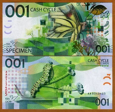 001 Cash Cycle KBA-GIORI, Test / Advertising note / Specimen - Butterfly