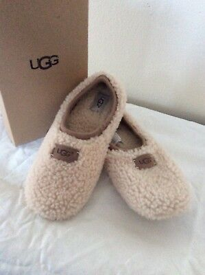 6a140166703 UGG AUSTRALIA WOMEN BIRCHE Casual Sheepskin Slippers 1007721 Natural ...