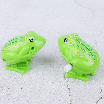 Cute Plastic For Kids Green Classic Toys Clockwork Toy Wind Up Toy Jumping Frog