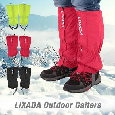 Lixada One Pair of Gaiters Outdoor Unisex Zippered Closure Wear and Water K1D4