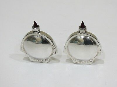 A Pair of Vintage Sterling Silver Mexico Perfume Scent Bottles