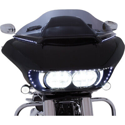 Ciro Black Sequential LED Signal Horizonal Windshield Trim Harley Road Glide 15-