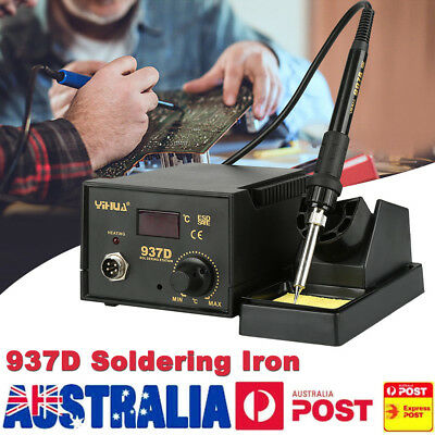 937D Electric Soldering Iron ESD Safe Solder Stand Lead Welding Kit 45W 220V AU