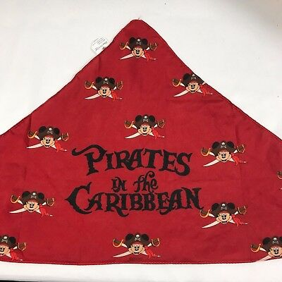 DISNEY CRUISE LINE Boy's PIRATES IN THE CARRIBEAN Mickey Mouse Bandana Scarf Red