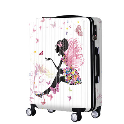 "Fairy Girl Lock Universal Wheel Travel Suitcase Cabin Luggage Bag 20"",24"",28"""