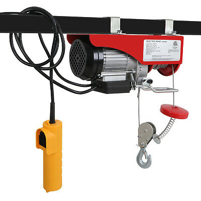 Electric Hoist 440LBS Lift Electric Hoist 110v Mini Electric Winch Wire Cable Ho