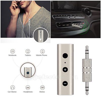 Wireless Bluetooth 4.2 3.5mm Audio Receiver Car Kit Music Streaming Adapter W