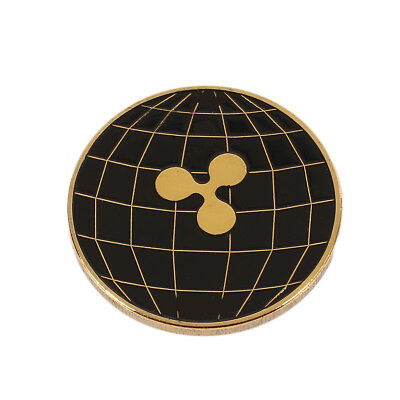Ripple Coin Collectors Coin Bicolourable Black Gold XRP CRYPTO Digital Currency